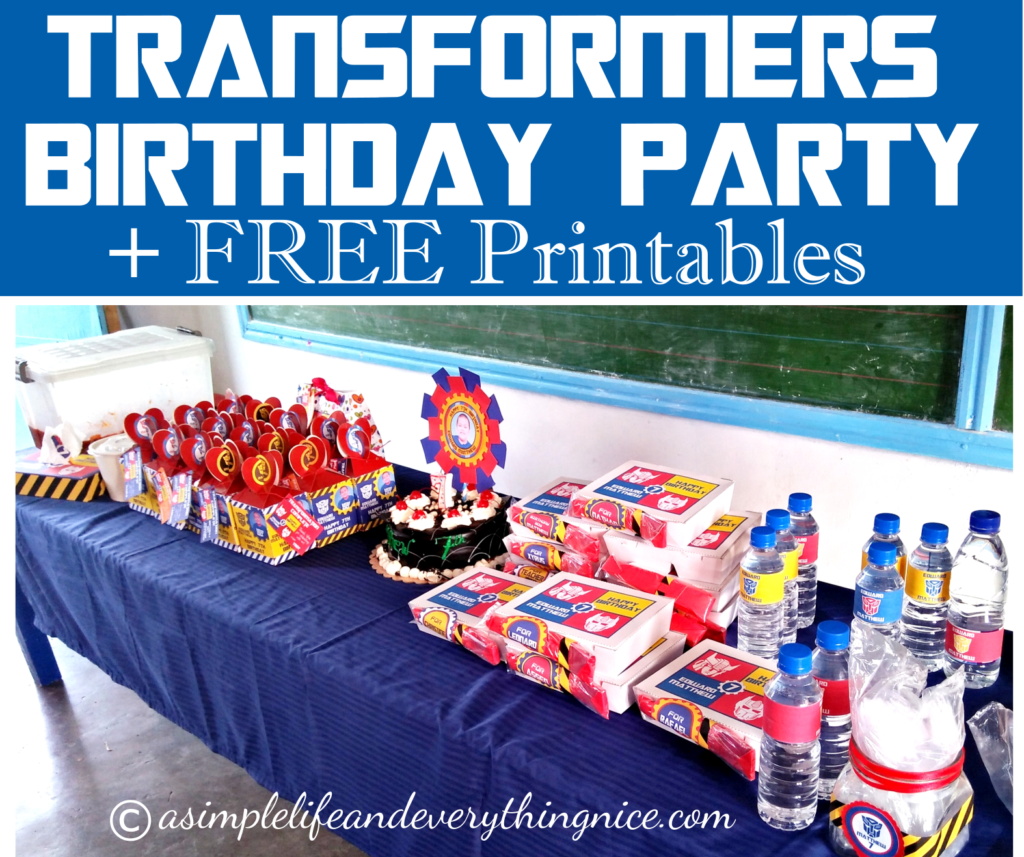 transformers inspired birthday party ideas and free